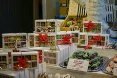 Confiserie sur le marché de Noël image libre de droits