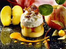 Confit apple mousse with Pommeau Royalty Free Stock Image