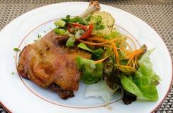 Confit de canard. French dish of confit de canard royalty free stock images