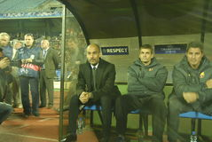 CONFIT du match de football FC - FC Barcelone Photos libres de droits