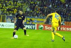 CONFIT du match de football FC - FC Barcelone Images libres de droits