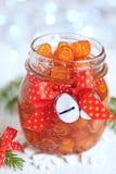 Confitura escarchada de las cáscaras de naranja Fotos de archivo