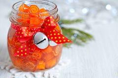Confitura escarchada de las cáscaras de naranja Foto de archivo