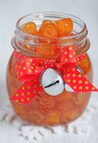 Confitura escarchada de las cáscaras de naranja Imagen de archivo