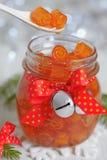 Confitura escarchada de las cáscaras de naranja Imágenes de archivo libres de regalías