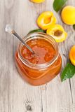 Confiture d'abricot Photo stock