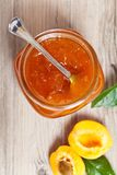 Confiture d'abricot Photographie stock libre de droits