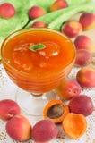 Confiture d'abricot Photo libre de droits