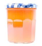Confiture d'abricot dans un pot en verre Image libre de droits