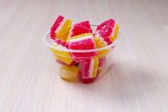 Confiture d'oranges colorée Image libre de droits