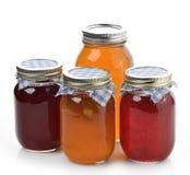 Confiture d'oranges, confiture et miel faits maison Photos stock
