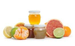 confiture d'oranges de citron photographie stock