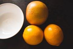 Confiture d'oranges de citron de pamplemousse et de Meyer images stock