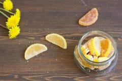 Confiture d'oranges et pissenlits d'agrume Image libre de droits