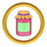 Confiture dans une icône en verre de pot illustration stock