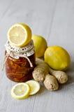 Confiture de citron avec du gingembre Photos libres de droits