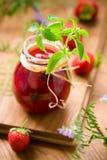 Confiture de fraise Photographie stock libre de droits