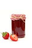 Confiture de fraise image stock