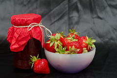 Confiture de fraise Image libre de droits