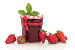 Confiture de fraise Photos libres de droits