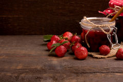 Confiture de fraise Photographie stock