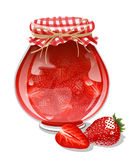 Confiture de fraise Images stock