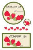 Confiture de fraise de label Images stock