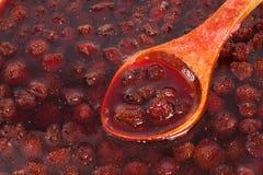 Confiture de fraise de ?ooking Photo stock