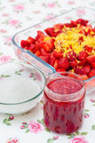 Confiture de fraise faite maison Photo stock