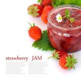 Confiture de fraise fraîche Photo stock