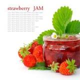 Confiture de fraise fraîche Photos stock