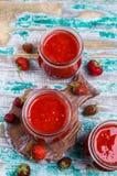 Confiture de fraise rouge Images libres de droits