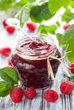 Confiture de framboise Images stock