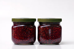 Confiture de framboise Photos stock