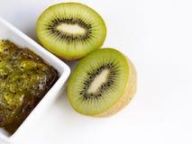 Confiture de kiwi et kiwi Photographie stock libre de droits