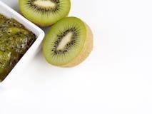 Confiture de kiwi et kiwi Image libre de droits