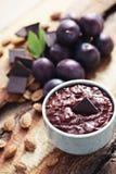 Confiture de prune avec du chocolat Photo libre de droits
