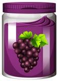 Confiture de raisin dans le pot illustration de vecteur