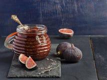 Confiture des figues fraîches Photos stock