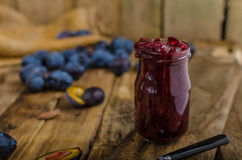 Confiture domestique de prune Image libre de droits