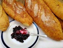 Confiture douce de pain et de groseille Photo stock