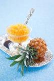 Confiture faite maison d'ananas Photographie stock libre de droits