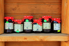 Confiture faite par maison de Praid Photographie stock