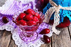 Confiture made of dogwood Royalty Free Stock Photos