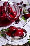 Confiture made of dogwood Royalty Free Stock Image