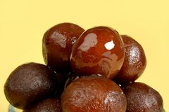 Confiture ou Gulab Jamoon de Gulab un bonbon indien photographie stock