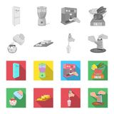 , confiture, régime, accessoires et toute autre icône de Web dans le style monochrome et plat cuisinier, équipement, appareil, ic Image libre de droits