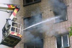 Conflagração Fotografia de Stock Royalty Free