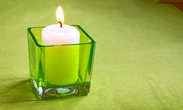 Conflagrant candle Royalty Free Stock Images