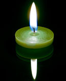 A conflagrant candle Royalty Free Stock Photography